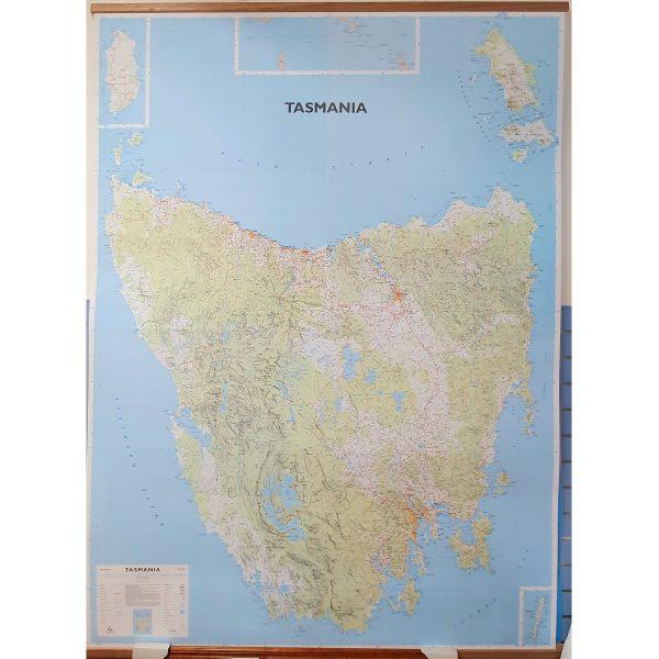 Large Tasmania Wall map