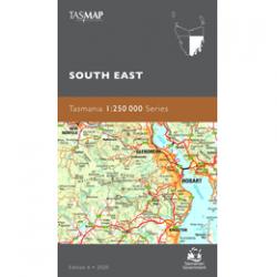 South East Tasmania 1-250k Topo Map Cover
