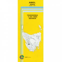 Abel 4029 25k Topo Map