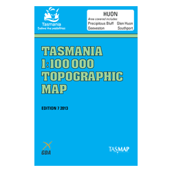 Huon 1:100,000 Topographic Map