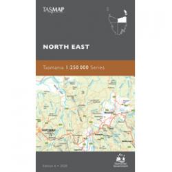 North East Tasmania 1-250k Topo Map