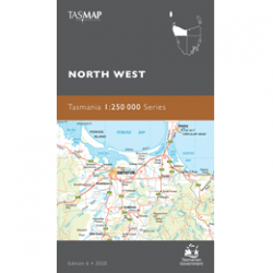 North West Tasmania 1-250k Topo Map Cover