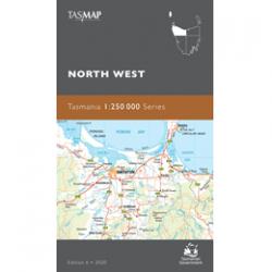 North West Tasmania 1-250k Topo Map Cover