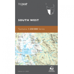 South West Tasmania 1-250k Topo Map Cover