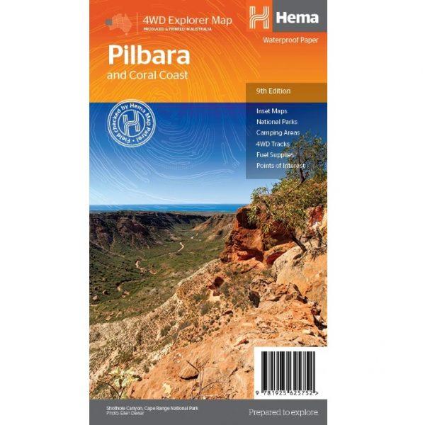 Pilbara & Coral Coast Map Front
