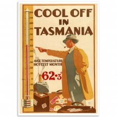 Cool off In Tasmania Vintage Travel Print