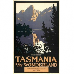 Tasmania The Wonderland Vintage Travel Print