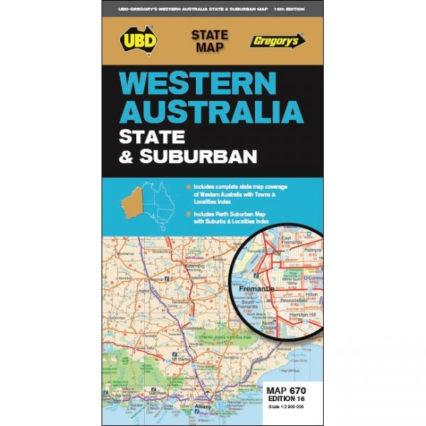 Western Australia State & Suburban Map 670