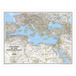Countries of the Mediterranean Wall Map