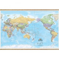 Mega World Wall Map with Hangers