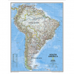 South America Classic Wall Map