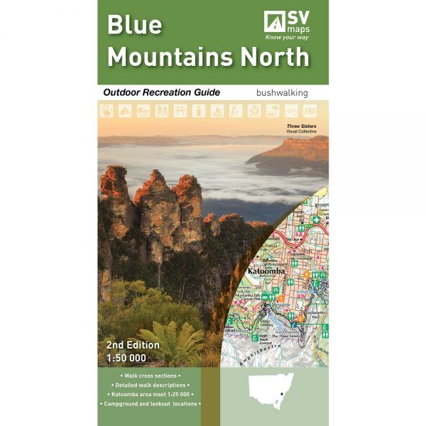 Blue Mountains North Map