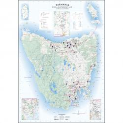 Tasmania Wine & Gastronomy Flat Map