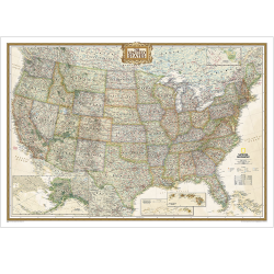USA Executive Wall Map