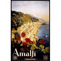 Amalfi Italy Vintage Travel Print