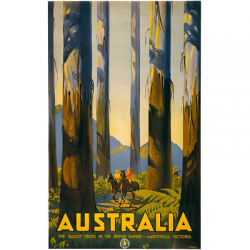 Australia Marysville Tall Trees Vintage Travel Print