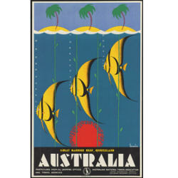 Great Barrier Reef Vintage Travel Print