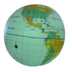 Inflatable World Globe 30cm