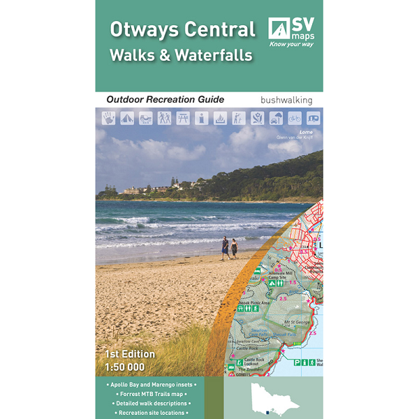 Otways Central: Walks and Waterfalls Map