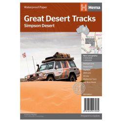 Great Desert Tracks Simpson Desert Map