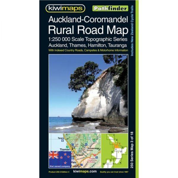 Auckland - Coromandel Rural Road Map NZ 3 of 18