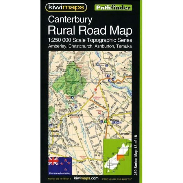 Canterbury Rural Road Map NZ 13 of 18