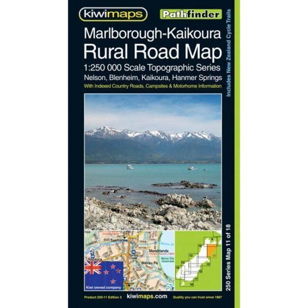 Marlborough-Kaikoura Rural Road Map NZ