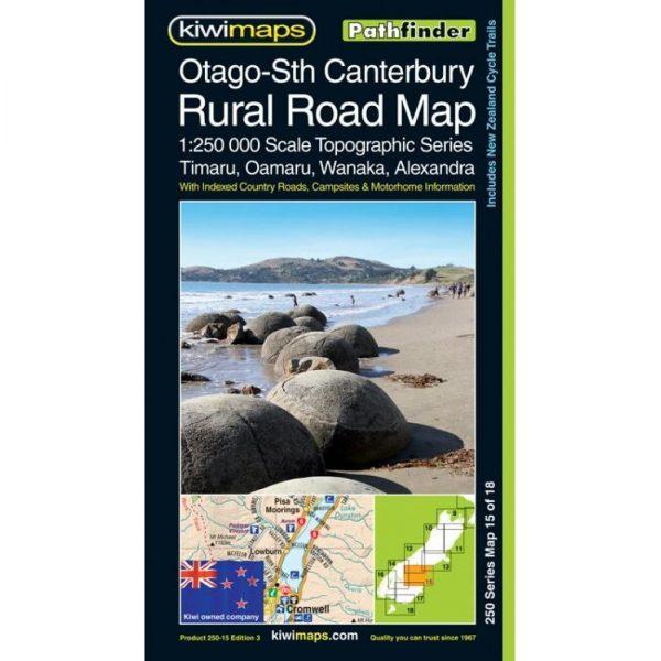 Otago-South Canterbury Rural Road Map