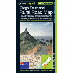 Otago-Southland Rural Road Map