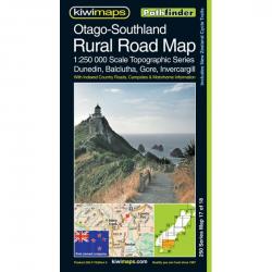 Otago-Southland Rural Road Map