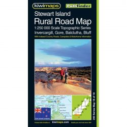 Stewart Island Rural Road Map NZ