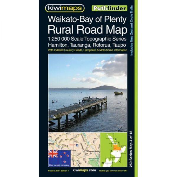 Waikato-Bay of Plenty Rural Road Map NZ