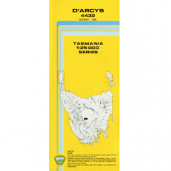 D'Arcys 1.25,000 Topographic Map
