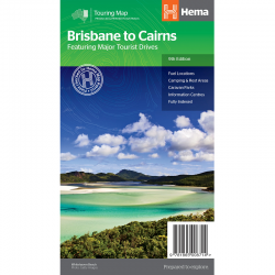 Brisbane to Cairns Road Map 9781865008714