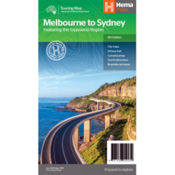 Melbourne to Sydney Road Map 9321438002239