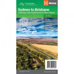 Sydney to Brisbane Road Map 9321438001980