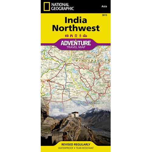 India Northwest Adventure Travel Map
