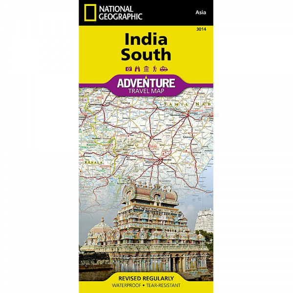 India South Adventure Travel Map