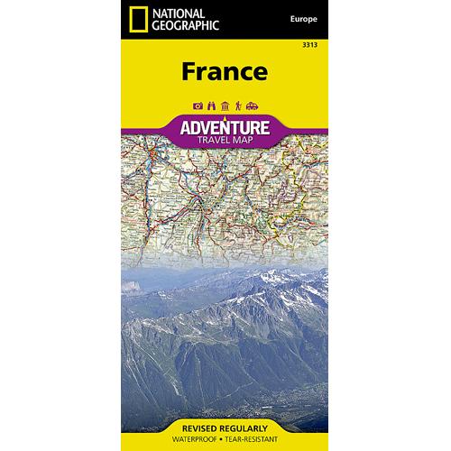 France Adventure Travel Map
