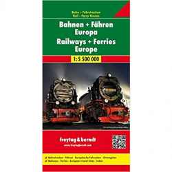 Railways & Ferries Map of Europe