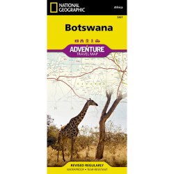 Botswana Adventure Travel Map