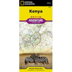 Kenya Adventure Travel Map Cover