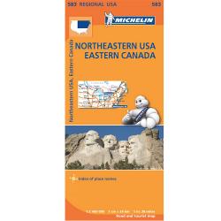 Northeastern USA Eastern Canada Map