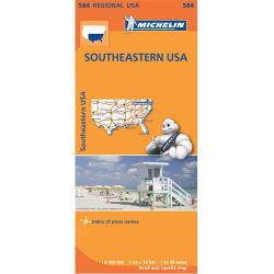 Southeastern USA Map 584