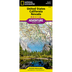 United States California Nevada Adventure Travel Map
