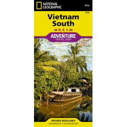Vietnam South Adventure Travel Map