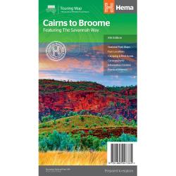 Cairns to Broome Savannah Way Road Map 9781865007335