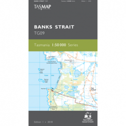 Banks Strait 1.50k Topographic Map