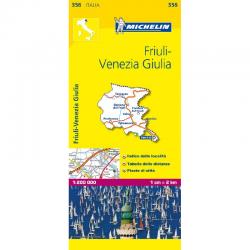 Fruili Venezia Giulia Region Italy Map 356