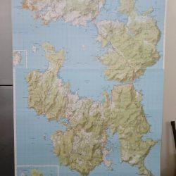 Tasman and Forestier Peninsula Wall Map